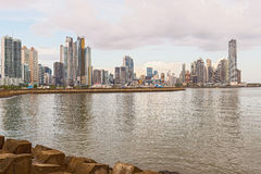 Panama city downtown skyline Stock Image