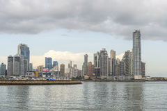 Panama city downtown skyline Royalty Free Stock Image
