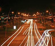 Panama City en la noche Fotos de archivo libres de regalías