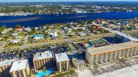 PANAMA CITY, FL - FEBRUARY 2016: Aerial view of coastline. Panam Royalty Free Stock Image