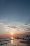 Panama city florida. Sunset ove water Royalty Free Stock Image