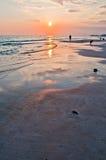 Panama city florida. Sunset on the beach Royalty Free Stock Image