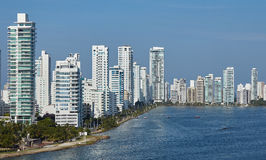 Panama city. High-rise buildings on the bay Stock Image