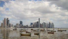 Panama City horisont, Panama City, Panama Royaltyfri Bild
