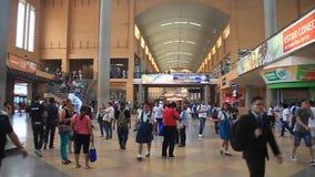 Interior of Albrook bus terminal. Panama City, Panama - May 30, 2016: Interior of Albrook Bus Terminal in Panama City stock footage