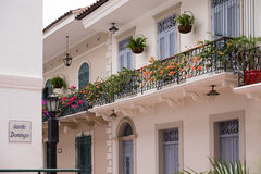 Panama City old casco viejo antiguo house Royalty Free Stock Photos