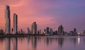 Panama City på natten Royaltyfri Foto