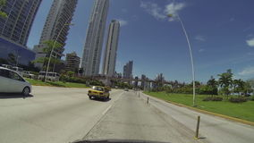Panama City, Panama - June 2: Stunning view of the skyrise buildings in the main city of Panama called the sporting area or cinta Royalty Free Stock Images