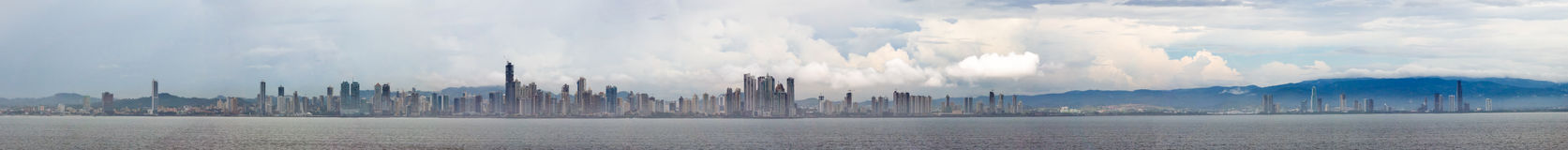 Panama city panoramic stock photo