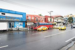 Panama city public transport in the district of calidonia in sum Stock Image