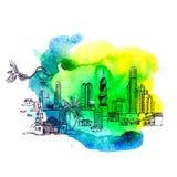 Panama City skyline i Royalty Free Stock Photo