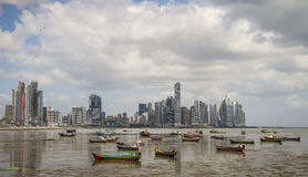 Panama City Skyline, Panama City, Panama. Panama City is the capital and largest city of the Republic of Panama.It has an urban population of 430,299, and its Royalty Free Stock Image