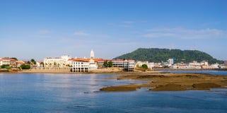 Panama City view old casco viejo antiguo. Tourist attractions and destination scenics. View of Casco Antiguo in Panama City Royalty Free Stock Image