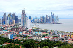 Panama city. View of panama city with sea shore Stock Images