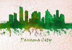 Panama- CitySkyline lizenzfreie abbildung