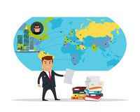 Panama Documents Concept Flat Vector Illustration Stock Photos
