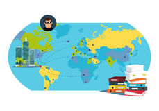 Panama Documents Concept Flat Vector Illustration Royalty Free Stock Photography