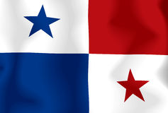 Panama Flag. This is The waving flag of Panama Stock Illustration