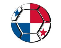 Panama flag on football ball, 2018 Championship, white backgroun Stock Photos
