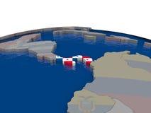 Panama with flag Royalty Free Stock Image