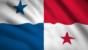 Panama flag Motion video waving in wind. Flag Closeup 1080p HD  footage vector illustration