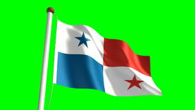 Panama flag stock video