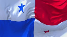 230. Panama Flag Waving in Wind Continuous Seamless Loop Background.