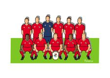 Panama football team 2018. Qualified for the 2018 world cup in Russia Stock Images