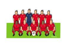 Panama fotbollslag 2018 Stock Illustrationer