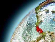 Panama från omlopp av modellen Earth Royaltyfria Foton