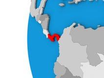 Panama on globe Stock Images