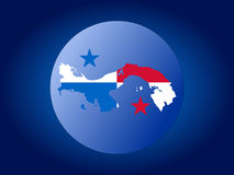 Panama globe illustration Royalty Free Stock Image