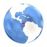 Panama on globe isolated on white Stock Images