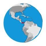 Panama on globe Royalty Free Stock Photography