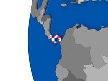 Panama on globe Royalty Free Stock Image
