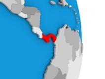 Panama on globe Royalty Free Stock Images