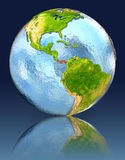 Panama on globe with reflection. Illustration with detailed planet surface. Elements of this image furnished by NASA Stock Photography