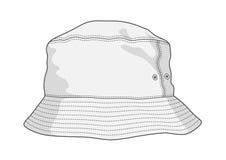 Panama hat. Blank vector panama hat. Sport style Stock Images