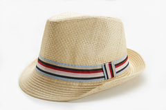 Panama Hat. Straw man's Panama hat on white background stock photos