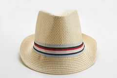 Panama Hat. Straw man's Panama hat on white background stock photo
