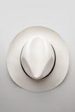 Panama hat. Top view of white hat, panama model Stock Photo