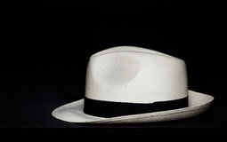 Panama hat on a black background Stock Photos