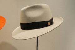 Panama hat on display Royalty Free Stock Image