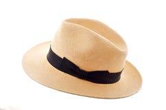 Panama hat isolated. On white royalty free stock photography
