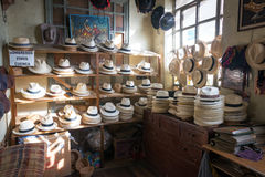 Panama Hat Shop Stock Images