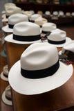 Panama hats closeup in Ecuador Stock Images