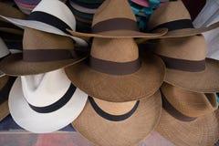 Panama hats closeup Royalty Free Stock Image