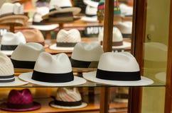 Panama hats. In Cuenca, Ecuador Royalty Free Stock Image