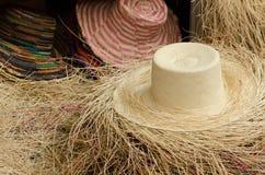 Panama hats. In Cuenca, Ecuador Stock Photography
