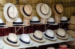 Panama hats. In Cuenca, Ecuador stock images